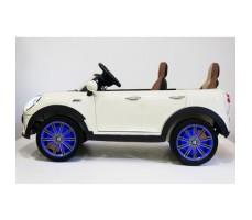 Электромобиль River Toys MiniCooper A222AA White вид сбоку
