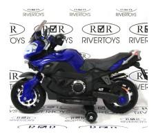Боковое фото детского электромотоцикла MOTO E222KX Blue