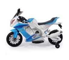 Боковое фото детского электромотоцикла RIVERTOYS МОТО M111MM BLUE