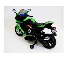 Заднее фото детского электромотоцикла RIVERTOYS МОТО M111MM GREEN