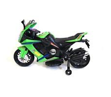 Боковое фото детского электромотоцикла RIVERTOYS МОТО M111MM GREEN