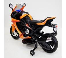 Боковое фото детского электромотоцикла RIVERTOYS МОТО M111MM ORANGE