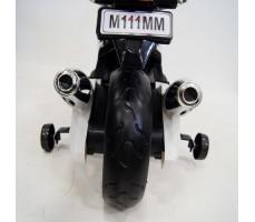 Заднее фото детского электромотоцикла RIVERTOYS МОТО M111MM WHITE
