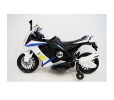 Боковое фото детского электромотоцикла RIVERTOYS МОТО M111MM WHITE