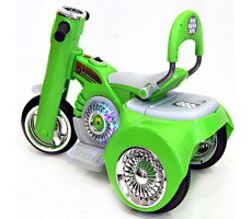 Заднее фото детского электромотоцикла RIVERTOYS MOTO X222XX GREEN