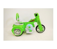 Боковое фото детского электромотоцикла RIVERTOYS MOTO X222XX GREEN