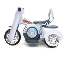 Боковое фото детского электромотоцикла RIVERTOYS MOTO X222XX GREY