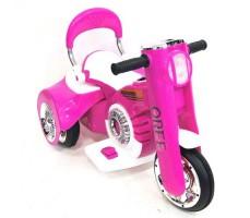 Детский электромотоцикл RIVERTOYS MOTO X222XX PINK