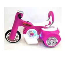 Боковое фото детского электромотоцикла RIVERTOYS MOTO X222XX PINK