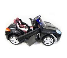 фото детского электромобиля RiverToys Porsche E001EE Black сбоку