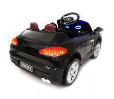 фото детского электромобиля RiverToys Porsche E001EE Black сзади