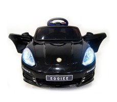 фото детского электромобиля RiverToys Porsche E001EE Black спереди
