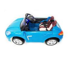 фото детского электромобиля RiverToys Porsche E001EE Blue сбоку
