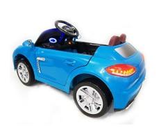 фото детского электромобиля RiverToys Porsche E001EE Blue сзади