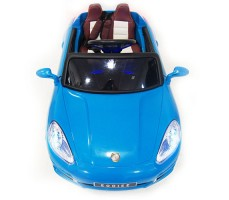 фото детского электромобиля RiverToys Porsche E001EE Blue спереди