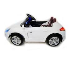 фото детского электромобиля RiverToys Porsche E001EE White сбоку