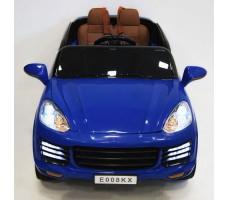 фото детского электромобиля RiverToys Porsche E008KX Blue спереди