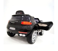фото детского электромобиля RiverToys Porsche Macan O005OO VIP Black сзади