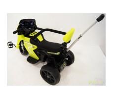 Детский мото-велосипед  River Toys O777OO 2в1 Yellow вид сзади