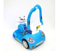 фото электромобиля-ходунков Rivertoys 1688 Blue сзади