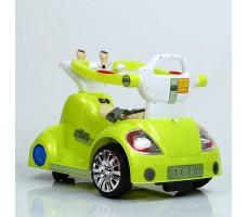 фото электромобиля-ходунков Rivertoys 1688 Lime сзади