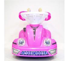 фото электромобиля-ходунков Rivertoys 1688 Pink спереди