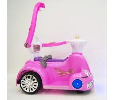 фото электромобиля-ходунков Rivertoys 1688 Pink сбоку