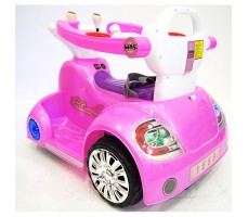 фото электромобиля-ходунков Rivertoys 1688 Pink сзади
