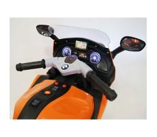 фото руля детского электробайка RiverToys М444ММ Orange