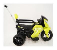 фото детского электромотоцикла RiverToys O888OO Green сбоку