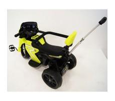 фото детского электромотоцикла RiverToys O888OO Green сзади
