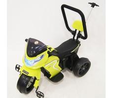 фото детского электромотоцикла RiverToys O888OO Green спереди