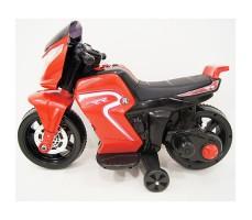 фото детского электромотоцикла RiverToys O888OO Red сбоку