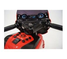 фото руля детского электромотоцикла RiverToys O888OO Red