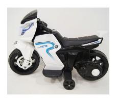 фото детского электромотоцикла RiverToys O888OO White сбоку