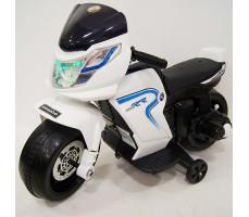 фото детского электромотоцикла RiverToys O888OO White спереди