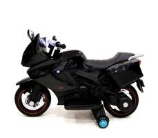 фото детского электробайка RiverToys Superbike A007MP Black сбоку