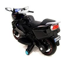 фото детского электробайка RiverToys Superbike A007MP Black сзади