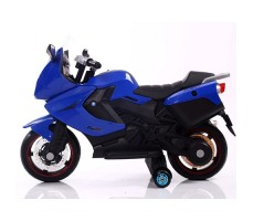 фото детского электробайка RiverToys Superbike A007MP Blue сбоку