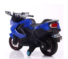 фото детского электробайка RiverToys Superbike A007MP Blue сзади