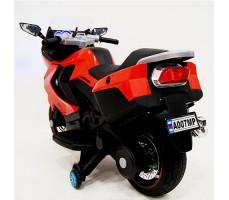 фото детского электробайка RiverToys Superbike A007MP Red сзади