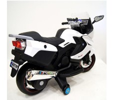 фото детского электробайка RiverToys Superbike A007MP White сзади
