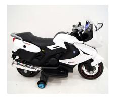 фото детского электробайка RiverToys Superbike A007MP White сбоку