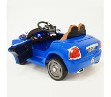 фото детского электромобиля RiverToys RollsRoyce C333CC Blue сзади