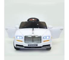 фото детского электромобиля RiverToys RollsRoyce C333CC White спереди