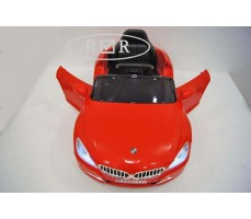 Фото электромобиля RiverToys BMW T004TT Red вид сверху