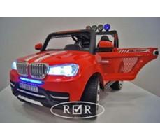 Фото электромобиля RiverToys BMW T005TT Red с открытыми дверьми