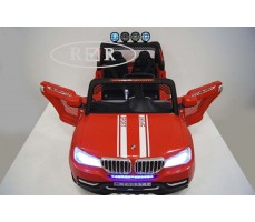 Фото электромобиля RiverToys BMW T005TT Red вид сверху