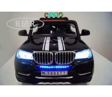 Фото электромобиля RiverToys BMW T005TT Black вид спереди