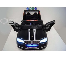 Фото электромобиля RiverToys BMW T005TT Black вид сверху